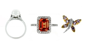 Abby's Fine Jewelry Designs: Ring-Sizing, Jewelry or Engagement Rings at Abby's Fine Jewelry Designs (Up to 50% Off). Four Options Available.