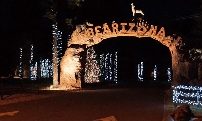 Bearizona (Drive-Thru Wildlife Park) - Bearizona: Admission to Wild Wonderland Zoo Lights for Two, Four, or Six at Bearizona (Half Off)