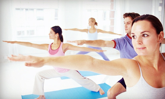 Leela Yoga with Nicole - Paint and Pour Ann Arbor: One Month of Unlimited Yoga Classes or One or Two Private Yoga Sessions at Leela Yoga with Nicole (Up to 76% Off)