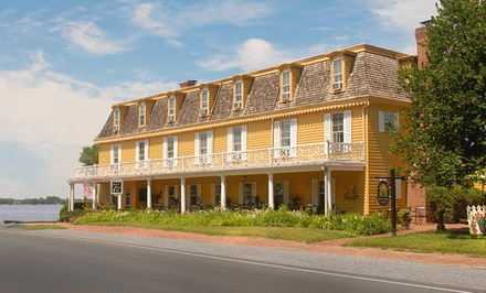 Groupon Deal: 1-Night Stay for Two in a Cabin or Captain or Admiral Room with Afternoon Tea at The Robert Morris Inn in Oxford, MD