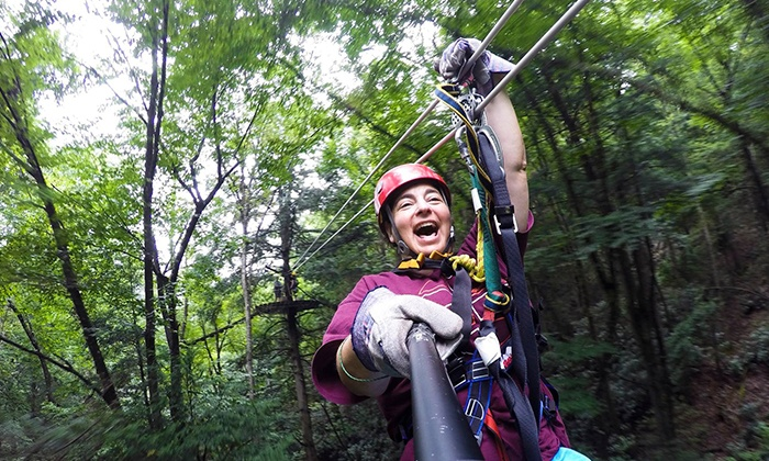 Adventures on the Gorge - Lansing: Two Zipline Tours and Two-Night Cabin Stay at Adventures on the Gorge (Up to 60% Off). Three Options Available.