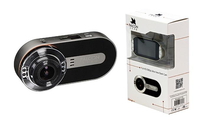Falcon Zero F170+ Full-HD 1080p GPS Dash Cam with 32GB Class 10 SD Memory Card