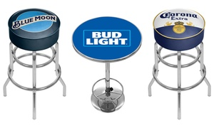 Beer Brand Padded Swivel Bar Stools and Pub Tables