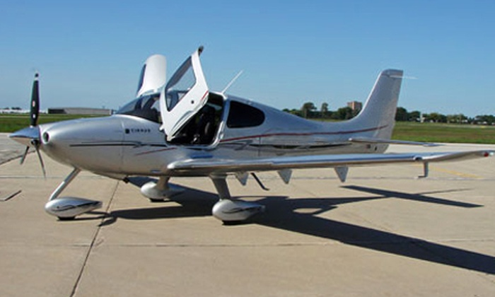 Travel Express Aviation - West Chicago: $187 for a One-Hour Introductory Flight Lesson from Travel Express Aviation in West Chicago ($365 Value)
