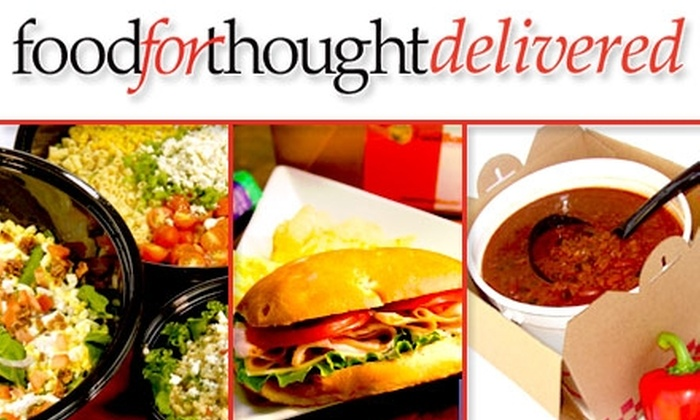 Food For Thought - Chicago: $30 for Five Full Lunches Delivered to Your Office from Food Box