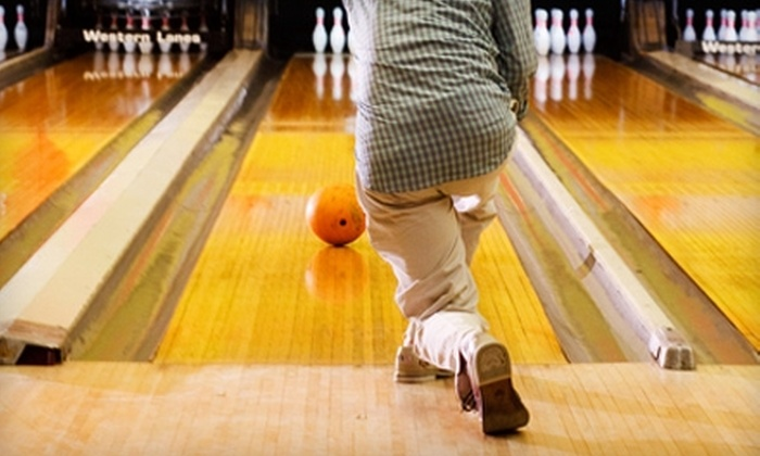 The Alley - Raleigh: $19 for Unlimited Bowling and Shoes for 4 Adults at The Alley (Up to $52 Value)