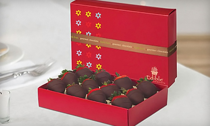 Edible Arrangements - Multiple Locations: Box of 12 Chocolate-Dipped Strawberries from Edible Arrangements in Raleigh or Wake Forest
