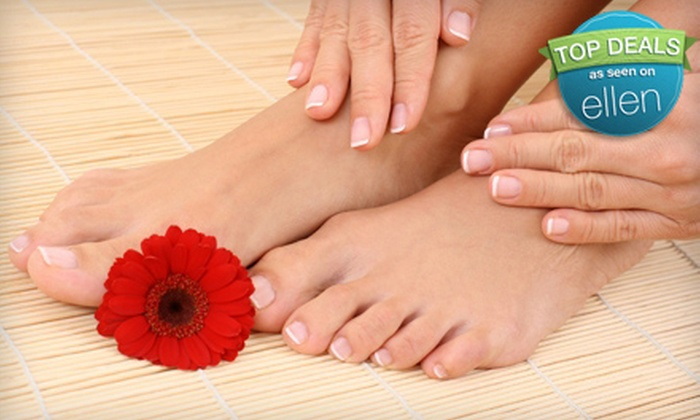 Nail Finiti - Airline/Jefferson: $34 for Deluxe Spa Pedicure and Regular Manicure or Shellac Application at Nail Finiti ($68 Value)