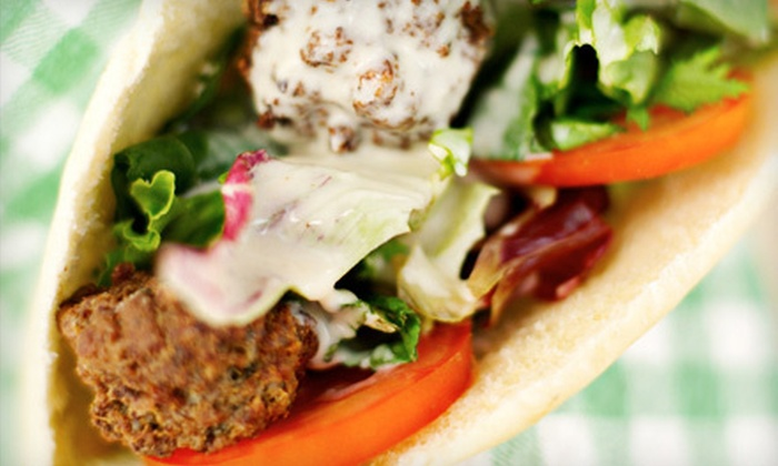 Happy Falafel - Aylesford Place: Meal for Two with Platters, Salads, and Drinks or $7 for $15 Worth of Mediterranean Fare at Happy Falafel