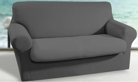 Coppia sedute o copridivano elasticizzato sagomato disponibile in 4 dimensioni e vari colori