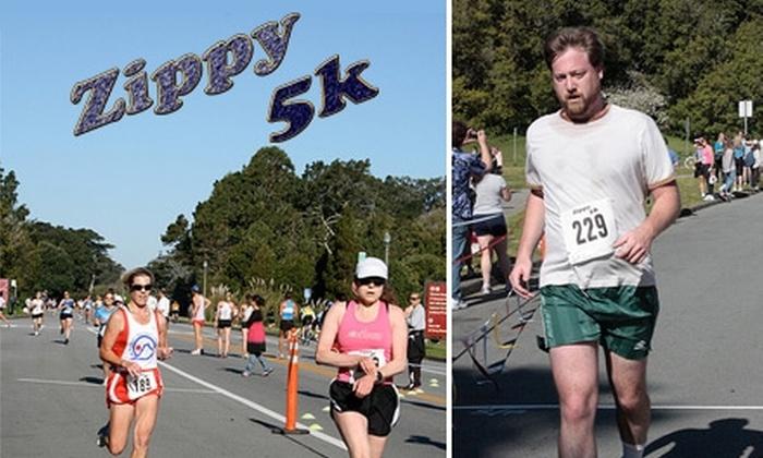 2010 Zippy 5K Run - Golden Gate Park: $18 Registration for the 2010 Zippy 5K Fun Run on Sunday, April 18, at 9:15 a.m. ($37 Value)