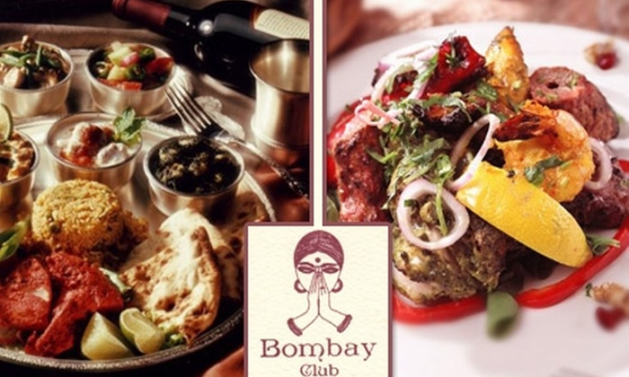 Bombay Club - South End: $20 for $40 Worth of Indian Cuisine and Drinks at Bombay Club