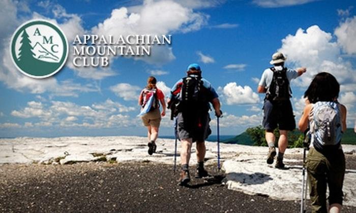 Appalachian Mountain Club: One-Year Membership to Appalachian Mountain Club. Choose One of Two Options.