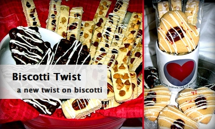 Biscotti Twist - Houston: $20 for a Biscotti and Peanut Cluster Sampler From Biscotti Twist ($37 Value)