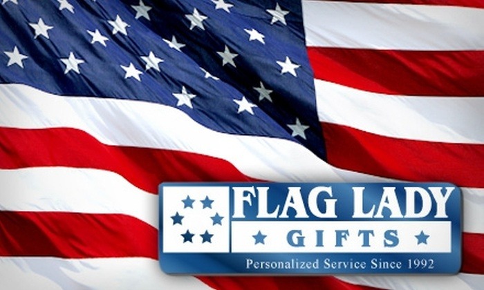Flag Lady Gifts - Radnor: $30 for a U.S. Flag and Two Decals from Flag Lady Gifts