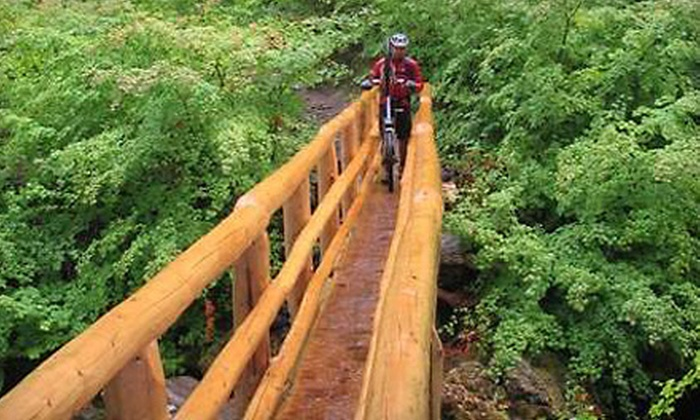 McKenzie River Mountain Resort - Finnrock: $25 for a Mountain-Biking Shuttle Service for Two at McKenzie River Mountain Resort in Finnrock (Up to $50 Value)