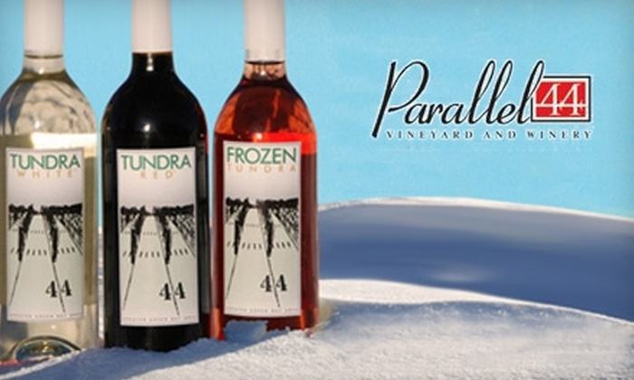 Parallel 44 Vineyard & Winery - Franklin: $8 for Two Tickets to Frozen Tundra Wine Fest at Parallel 44 Vineyard & Winery in Kewaunee on February 25 or 26 ($20 Value)