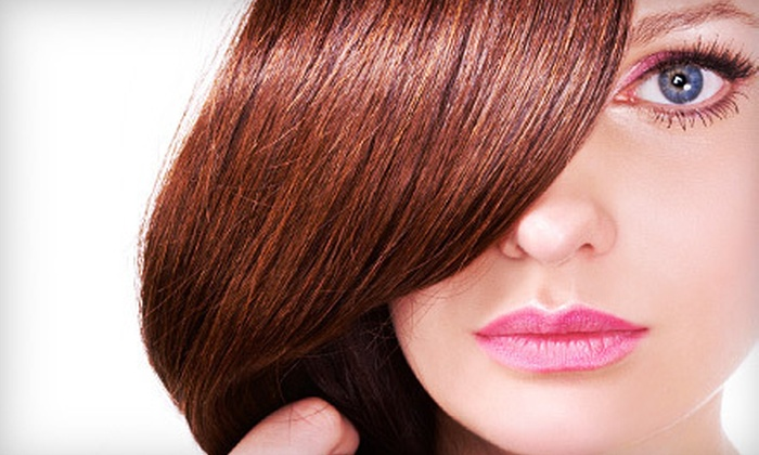 Sammy's Salon, Spa, and Tanning - Multiple Locations: Keratin Treatment with Optional Haircut and Style at Sammy's Salon, Spa, and Tanning (Up to 64% Off)