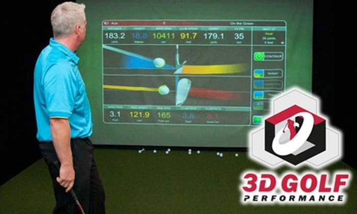 3D Golf Performance - Maillardville: $49 for a One-Hour Golf Lesson with a Golf Pro in a TruGolf 3-D Simulator at 3D Golf Performance ($125 Value)