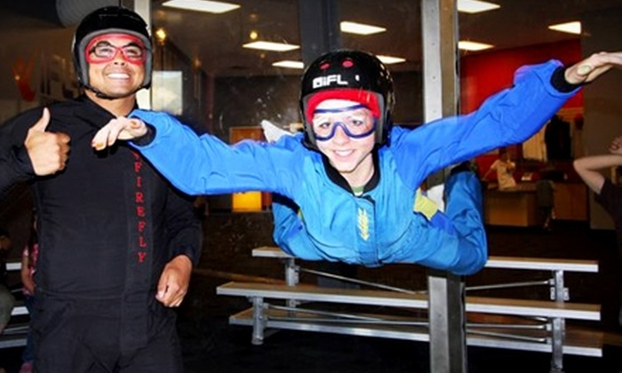 iFly Utah - Ogden: Indoor Skydiving Flight Tickets, T-shirts, DVDs, and Hats at iFly Utah in Ogden. Two Options Available.