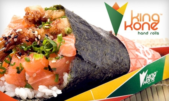 King Kone - Nautilus:  $10 for $20 Worth of Sushi Hand Rolls and More at King Kone in Miami Beach