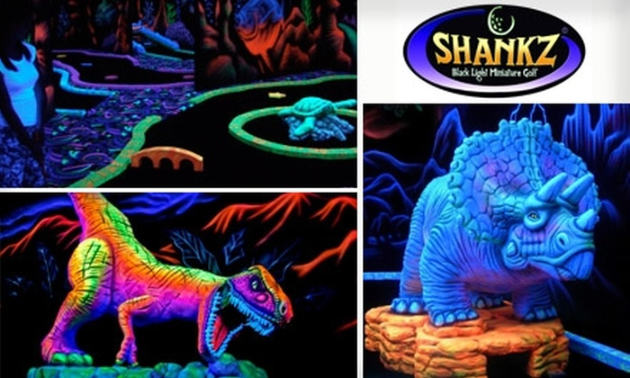 Shankz Black Light Miniature Golf - Olympia: $8 for 18 Holes of Golf and More at Shankz Black Light Miniature Golf ($15 Value)