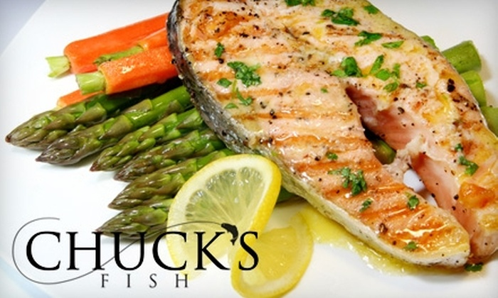Chuck's Fish - Multiple Locations: $25 for $50 Worth of Seafood and Sushi at Chuck's Fish. Two Locations Available.
