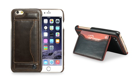 Trend Matters Ultra-Slim Leather Wallet Case with Kickstand for Apple iPhone 6/6s or 6/6s Plus