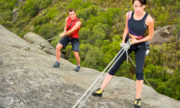 Rock About - Southwest Travis: $49 for a Basic Climbing Skills Outdoor Rock-Climbing Course from Rock About ($100 Value). Nine Dates Available.