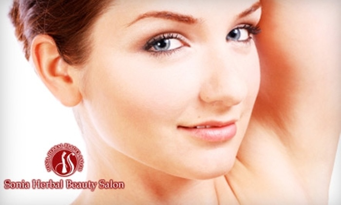 Sonia Herbal Beauty Salon - Multiple Locations: $25 for $50 Worth of Waxing and Threading Services at Sonia Herbal Beauty Salon
