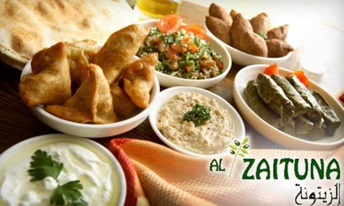 Al-Zaituna - Ridgecrest: $19 for $40 Worth of Middle Eastern Dinner Fare, or $9 for $20 Worth of Lunch, at Al-Zaituna
