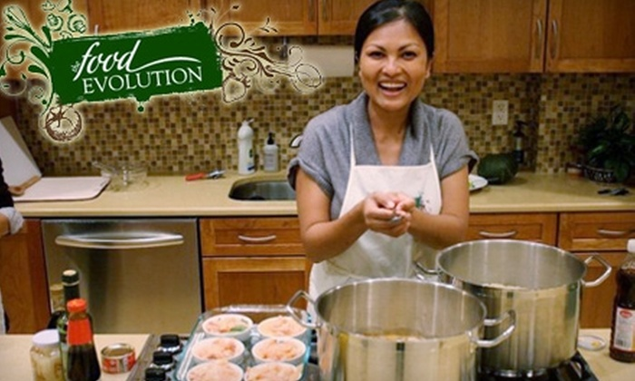 The Food Evolution - Clarkstown: Cooking Classes and Nutritional Health Lectures at The Food Evolution. Choose from Four Options.