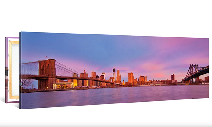 custom panoramic canvas print canvasonsale groupon