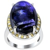 30.58 CTTW Genuine Tanzanite, Diamond & Topaz Ring in Sterling Silver