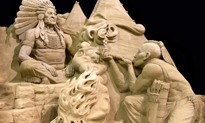 Niagara Sand Sculptures Exhibition - Niagara Falls: Niagara Sand Sculptures Exhibition Visit for One or Two Adults, or Two Adults and Two Children (Up to 54% Off)