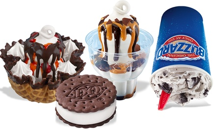 Ice Cream and Treats or Ice Cream Cake at Dairy Queen (Up to 50% Off)