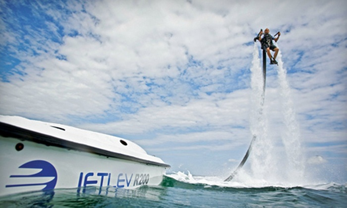 Jet Pack Water Adventures - Sandusky: 30-Minute Water-Jetpack Flight with Instruction for One or Two at Jet Pack Water Adventures (Up to 52% Off)