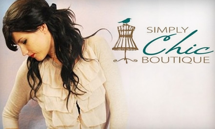 Simply Chic Boutique - Bossier City: $20 for $40 Worth of Apparel and Accessories at Simply Chic Boutique