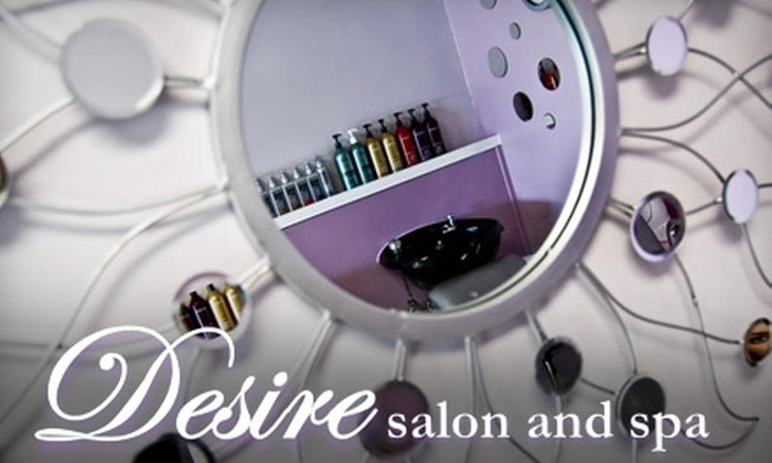 Desire Salon & Spa - Roanoke: $75 for a Gommage Facial ($150 Value), $25 for a Mani-Pedi ($57 Value), or $20 for a Women's Haircut ($45 Value) at Desire Salon & Spa