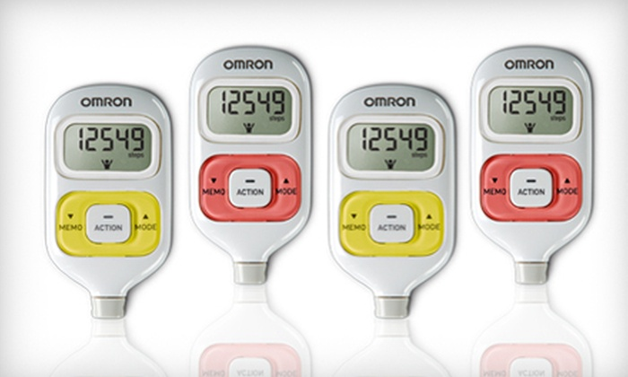 Pocket Pedometer: $10 for an Omron HJ-203 GoSmart Pocket Pedometer with Activity Tracker in Pink or Yellow from Set4Baby.com ($34.99 Value). Shipping Included.