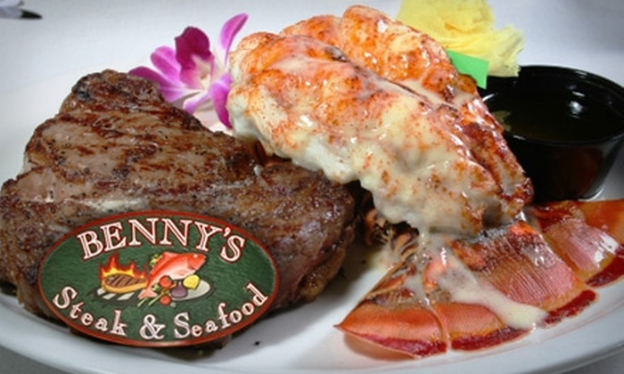 Benny's Steak & Seafood - Downtown Jacksonville: $20 for $40 Worth of Fine Surf-and-Turf Fare and Drinks at Benny's Steak & Seafood