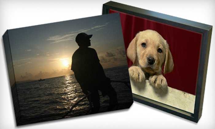 """Picture it on Canvas **NAT**: $49 for One Photo Print Reproduced on a 16""""x20""""x1.5"""" Gallery-Wrapped Canvas from Picture It On Canvas"""