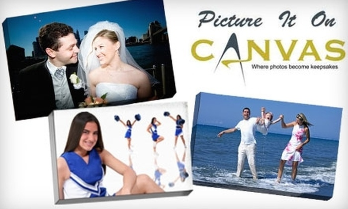 Picture it on Canvas **NAT**: $49 for a $130 Gift Card to Picture It On Canvas