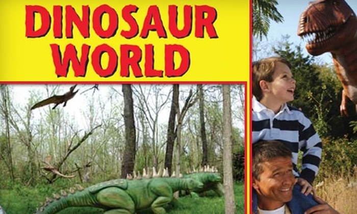Dinosaur World - Orlando: Up to 59% Off Ticket to Dinosaur World in Plant City. Adult and Children's Tickets Available.