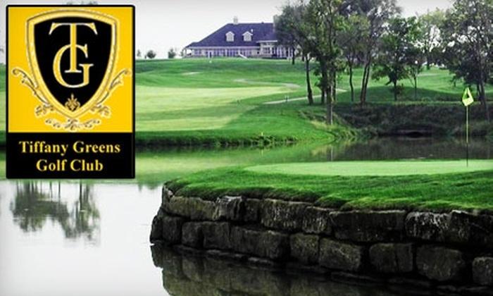 Tiffany Greens Golf Club - Kansas City: $36 for 18 Holes of Golf, Plus a Cart and Bucket of Range Balls, at Tiffany Greens Golf Club (Up to $72 Value)