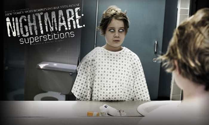 """Nightmare: Superstitions - Greenwich Village: Ticket to """"Nightmare: Superstitions"""" Haunted House. Choose From Two Options."""