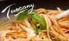 Tuscany Ristorante - Brooklawn - St. Vincent: $25 for $50 Worth of Italian Cuisine and Drinks at Tuscany Ristorante in Bridgeport