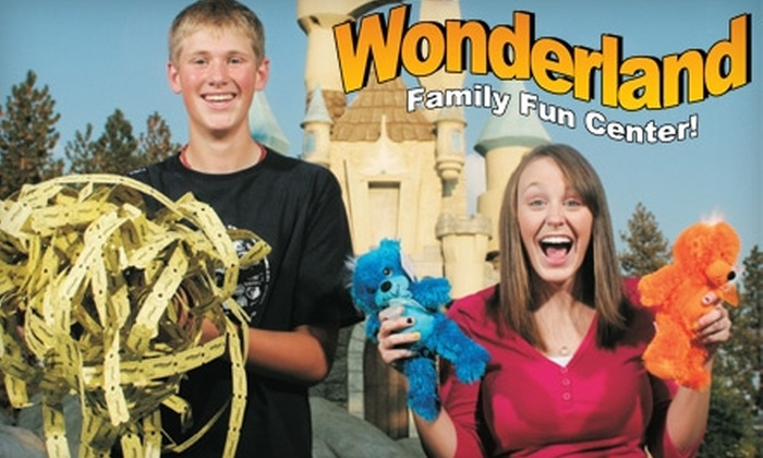 Wonderland Family Fun Center - Country Homes: $7 for Unlimited Mini-Golf Plus Two Attractions at Wonderland Family Fun Center ($14.99 Value)