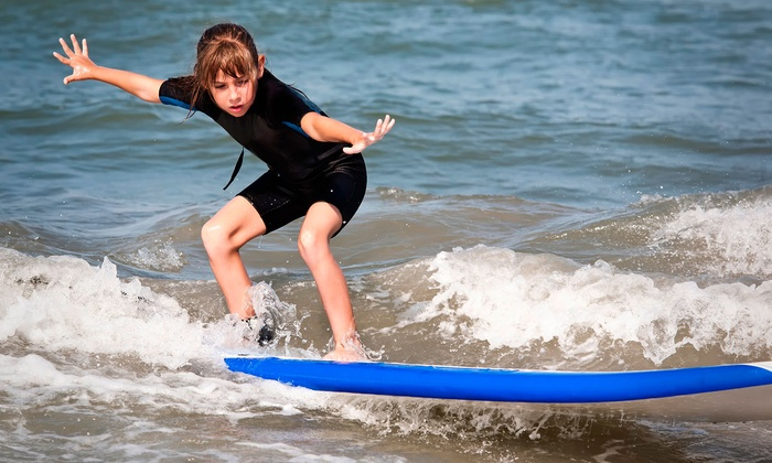 Santa Barbara Seals Surf School - Lower State: Hour-Long Surf Lesson for One or Two or 1.5-Hour Lesson for Four at Santa Barbara Seals Surf School (Up to 61% Off)