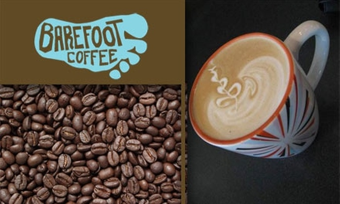 Barefoot Coffee - Santa Clara: $10 for $20 Worth of Exquisite International Coffees at Barefoot Coffee Roasters